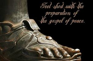 Image result for sandals of gosepl of peace