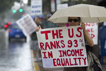 Image result for images of income inequality protest