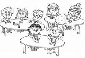 Résultat d'images pour dessin d'enfants dans une classe de maternelle