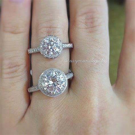 diamond size guide round brilliant engagement rings