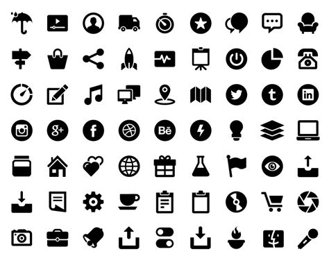 glypho free icons bold vector glyph icons for