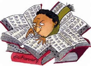 Image result for looked it up in the dictionary. Cartoon