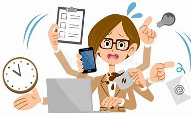 Image result for busy cartoon