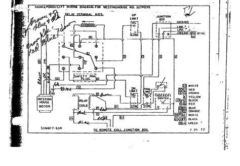porch lift vertical platform lift wiring diagram collection