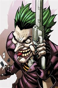 Image result for Joker picture with weapon from DC comics
