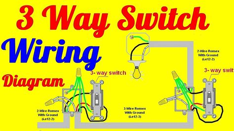 WAY SWITCH WIRING DIAGRAMS HOW TO INSTALL YOUTUBE