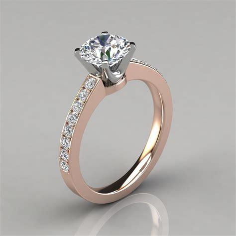 novo design round cut engagement ring forever moissanite