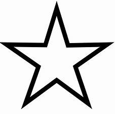 Image result for star clipart black
