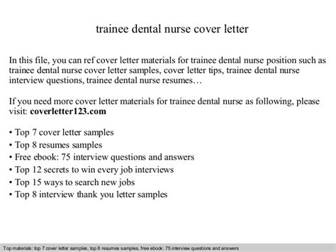 Cover Leters For Traine Dental Nurses