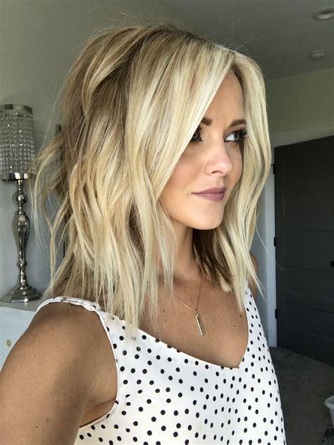 BLONDE LOB HAIR FRESH HAIR HAIR