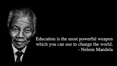 Image result for education quotes from mandela