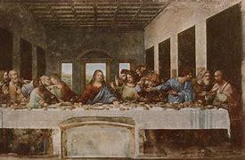 Résultat d'images pour La Cène Léonard de Vinci