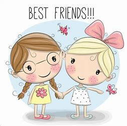 Image result for Cute Cartoon Girl Best Friends