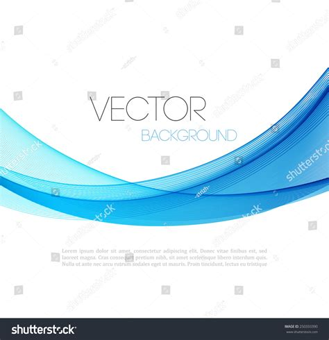 vector abstract curved lines background template brochure