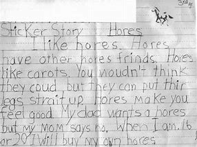 Image result for child's essay with spelling mistakes