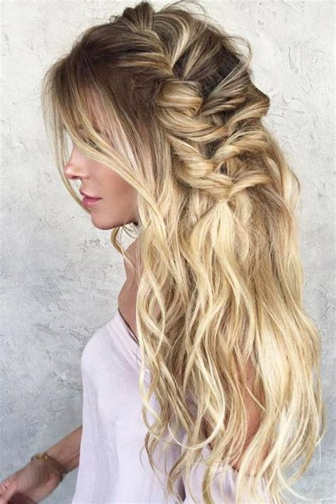 photo of long hairstyles wedding guest