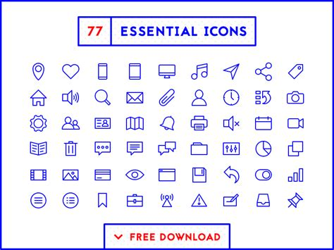 essential icons free download by bryn taylor on dribbble
