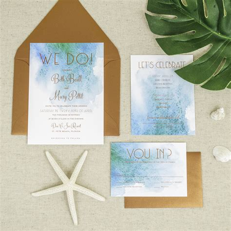 affordable letterpress wedding invitations tampa bay