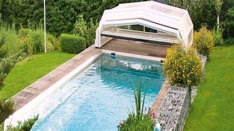 garten pool mit überdachung youtube