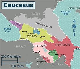 Image result for Caucasus Map
