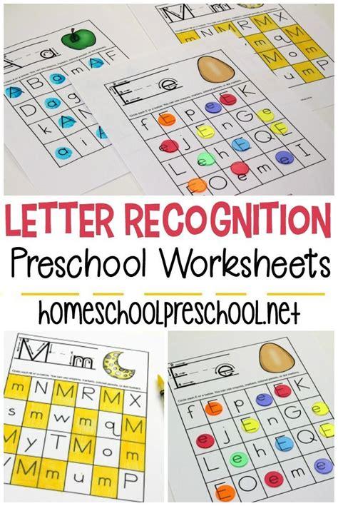 free printable letter recognition worksheets for