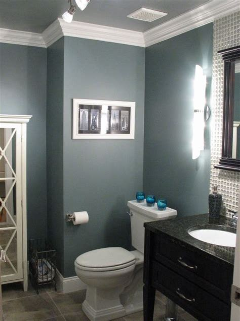 classy toilet room ceiling paint is different from the