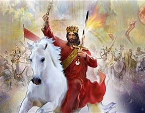 Image result for free picture of jesus returning on white horse