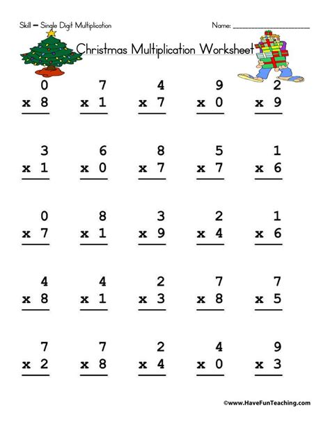 christmas worksheets page of have fun teaching