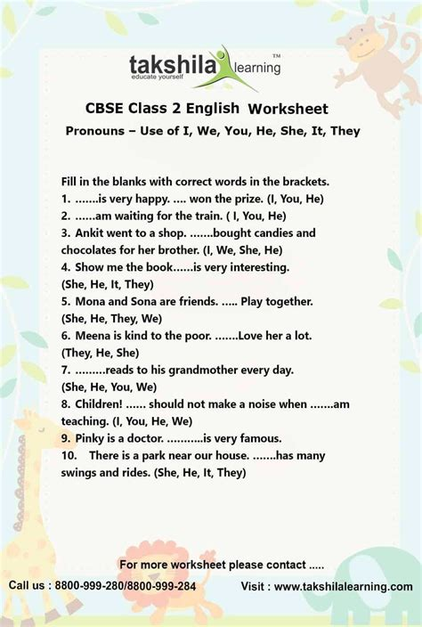 ncert cbse class english use of pronouns practice