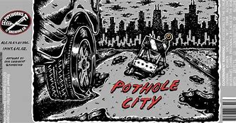 Image result for PIPEWORKS POTHOLE CITY IMPERIAL STOUT