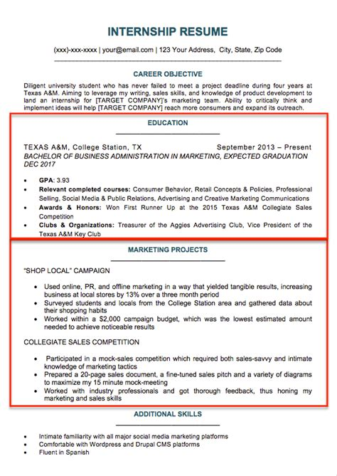best internship resume templates to download for free