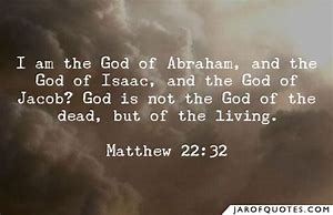 Image result for i am the god of the living