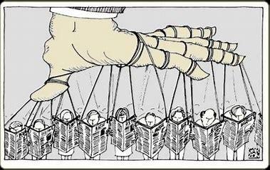 Résultat d'images pour  médias nous contrôle contrôle du peuple caricature rigolote