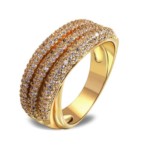 new vintage style ring latest jewelry k gold plated