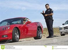 Image result for red sports car & cop pictures