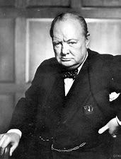 Image result for images winston churchill grimace