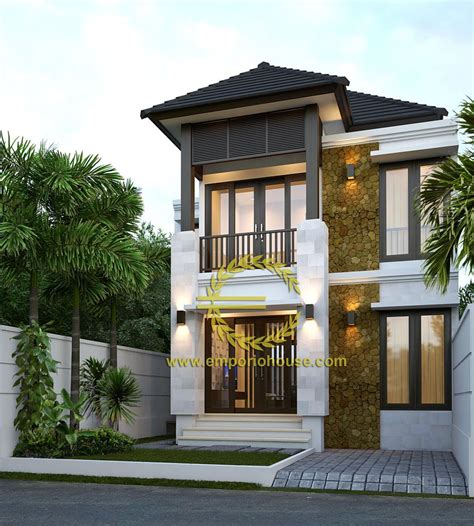 desain rumah lantai kamar lebar tanah meter dengan