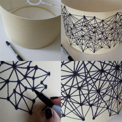 diy geometric sharpie lampshade