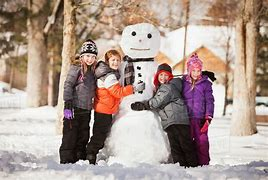 Image result for snowman building