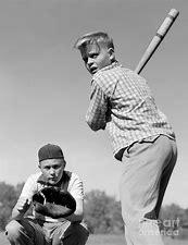 Image result for image fifties boys playing baseball