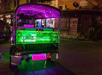 Image result for Photos of strobe lights and neon lights on vehicles in Bangkok Thailand