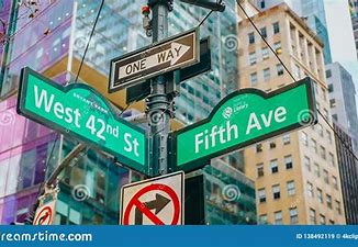 Image result for images nyc numbered street signs