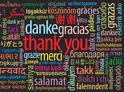 Image result for thank you in many languages list