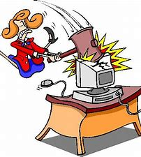 Image result for free clip art of frustrated with computer