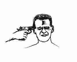 Résultat d'images pour images illustrations personnes se suicidant avec arme à feu