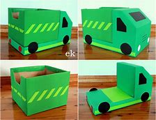 Image result for cardboard box truck