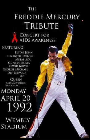Image result for freddie mercury aids concert images
