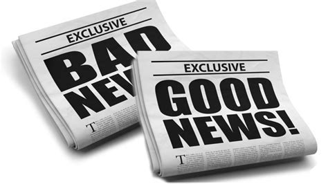 Image result for image for the good news and the bad news