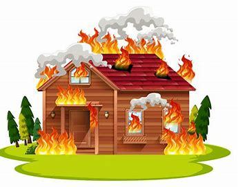 Résultat d'images pour dessin maison en feu