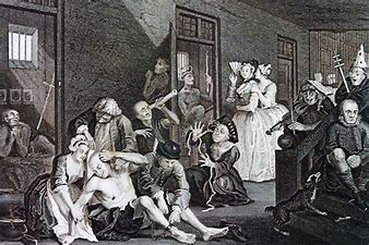 Image result for images of bedlam and insane patients